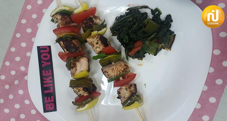 وصفات صحية - Recette santé : Brochettes de dinde
