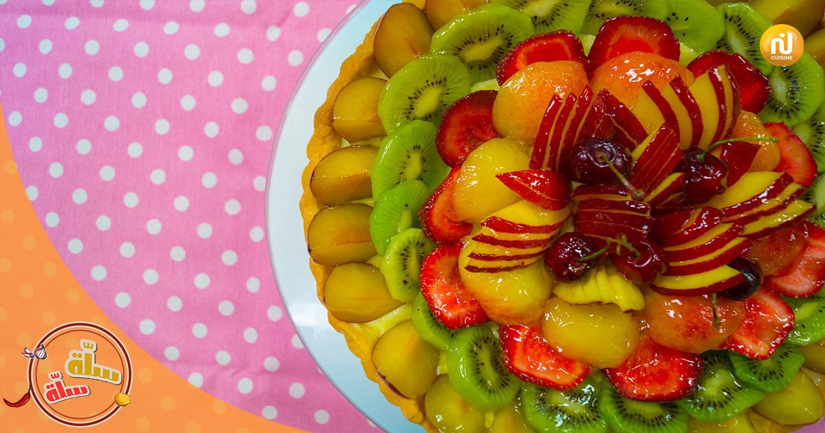 سلّة_سلّة الجزء الثالث : dessert : tarte aux fruits