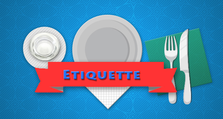 ايتيكات : آداب الأكل