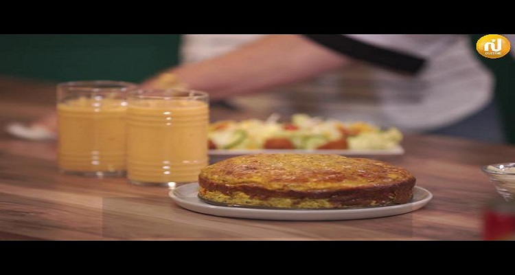 كوجينة رمضان مع ملاك : طاجين سلاطة مشوية ، مادلين بالليمون و الزعفران ، شوربة دجاج مقرمش ، عصير البطيخ و البسكويت