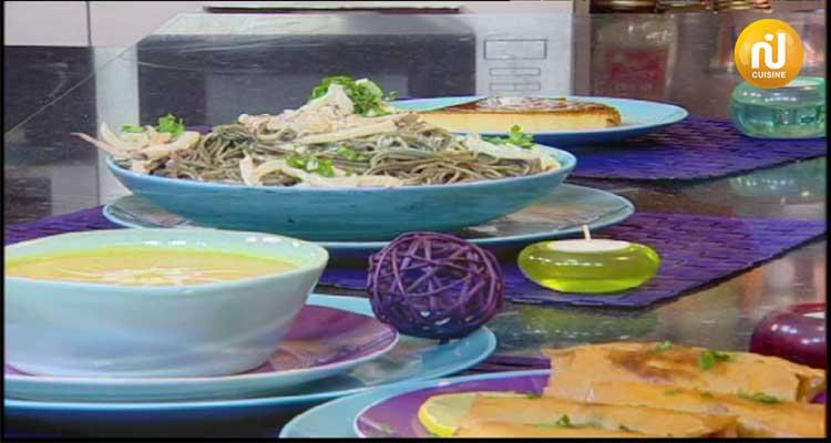 بريك على الطريقة الجزائرية ، حساء بالخضار ، فلان فانيليا بالكرميل - كوزينتنا هكا