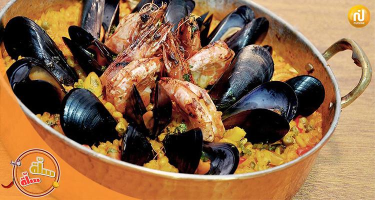 سلاطة خضر على البخار , حساء الكروفات , Paella -سلّة سلّة الجزء الثاني