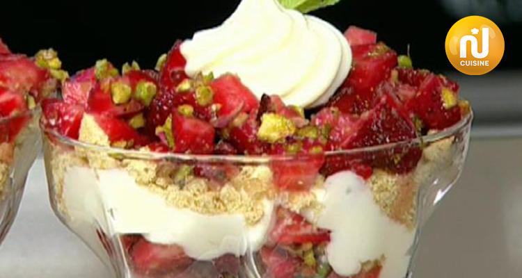 سلاطة بيض ، خبيزة المعدنوس ، تارتار فراولة بالفسدق - كوزينتنا هكا الجزائر