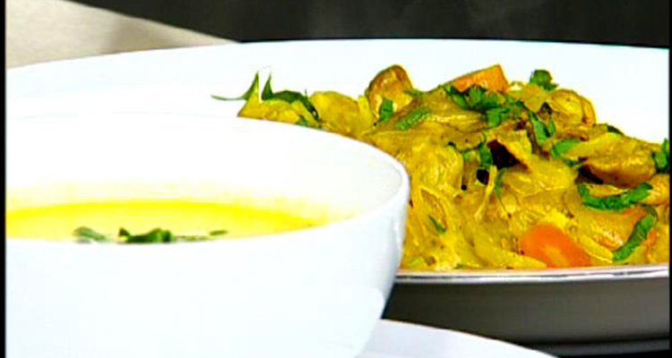 خبز تونس ، حساء قرنبيط بالكروية - كوزينتنا هكا الجزائر
