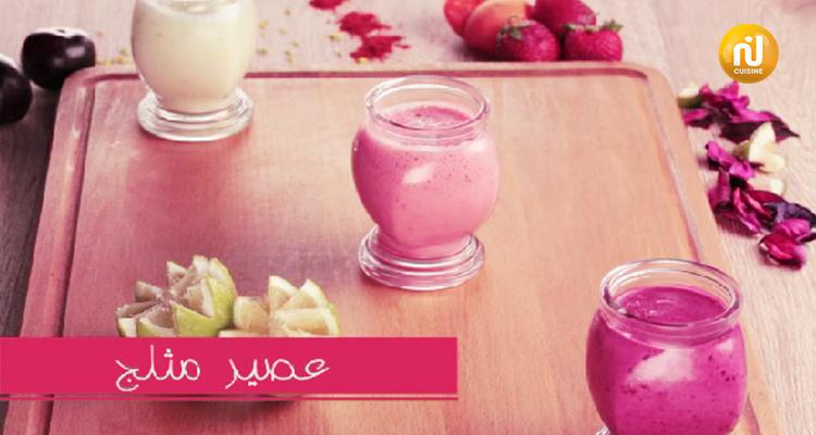 عصير بالكريمة المثلجة - بنينة