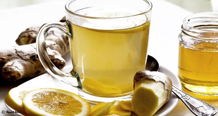 مشروب الليمون بالزنجبيل