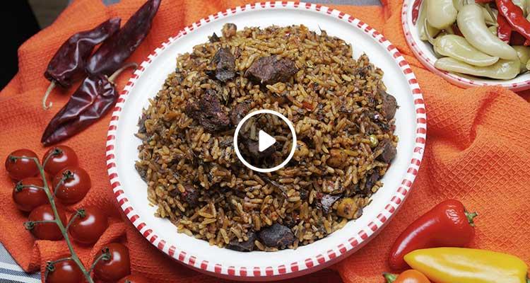 أرز على الطريقة الجربية - بنينة