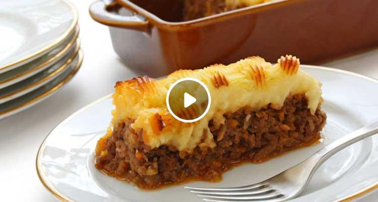 بطاطا مهروسة باللحم المفروم - كوجينة اليوم 02 - الحلقة 57