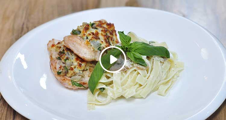 دجاج بالشومبنيون والجبن، مقرونة زعرة - كوجينة اليوم 02 - الحلقة 63