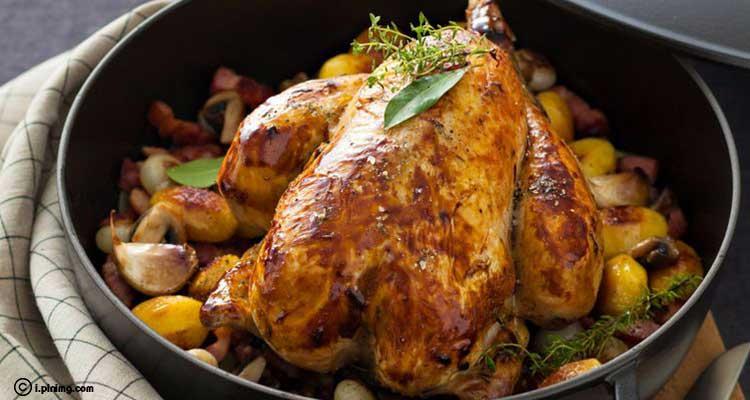 دجاج ببهارات التندوري الهندية