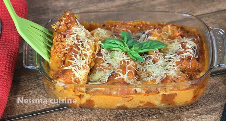 Cannelloni aux crevettes - Bnina