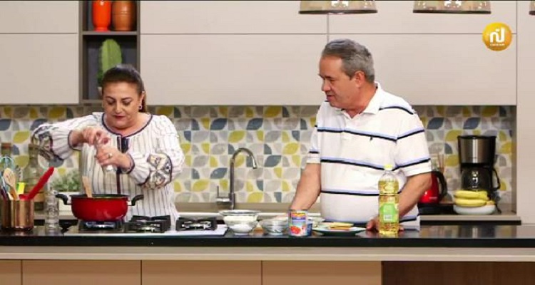 Lasagne ، Salade de fruits et d'amandes ، Tarte à Chkchouka ، salade de fruits  - Kaa El khabya Ep 23