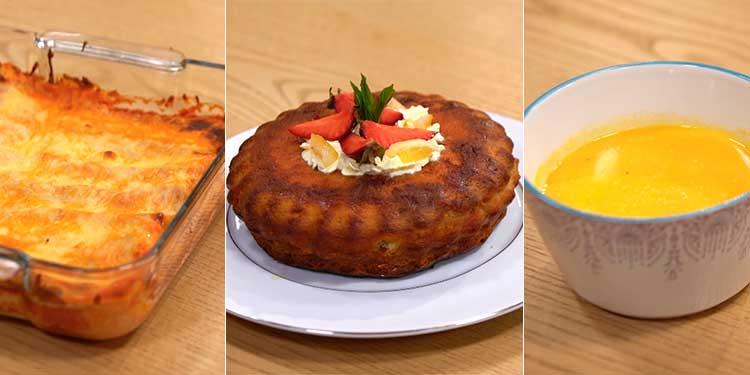 Velouté de Potiron, cannelloni poulet ricotta, Gateau - coujinet romadhan ep 16