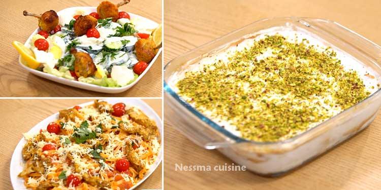 خبزة هواء، سلطة بالدجاج، نووي مع صلصة الطمطام - كوجينة رمضان 02 - الحلقة 08