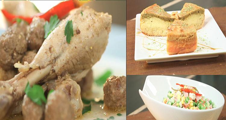 Mchalwech, Boules de poulet,Salade légumes ,Bourgeoise- Kaa El khabia -Episode 18