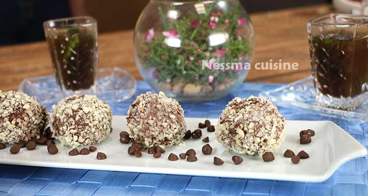 Boulettes de chocolat aux biscuits - Bnina