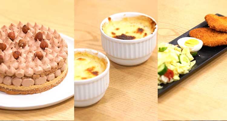 Gâteau génoise, salade, gratin poulet - coujinet romdhan ep 24