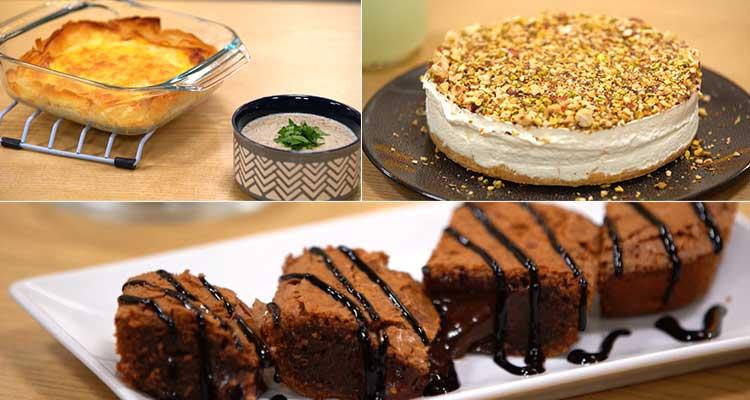Tajine tunisien au feuille de brick, brownies, cheesecake - coujnet romdhan 02 Ep 19