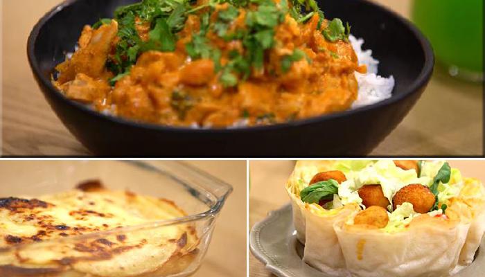 أرز على الطريقة الهندية، سلاطة حضرة في ورقة بريك، لازانيا حلوة بالغلال،ميلك شيك بالقهوة و الفانيليا - كوجينة رمضان 02 - الحلقة 13