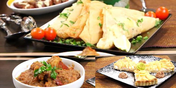 Brik au thon, sauce biba , salade, tarte au pomme-Kaa el khabia-episode 25
