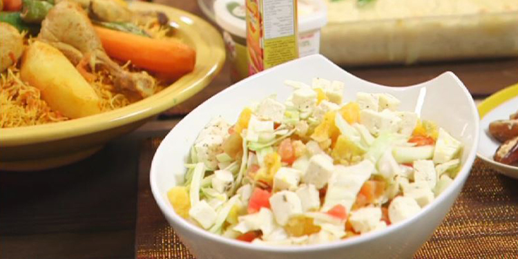 Douida, gratin de chou fleur, Salade d'orange variée, Flan Caramel- Kaa El Khabia - Episode 28