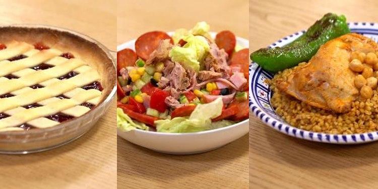 Borghol, Salade De Charcuterie, Tarte à La Confiture