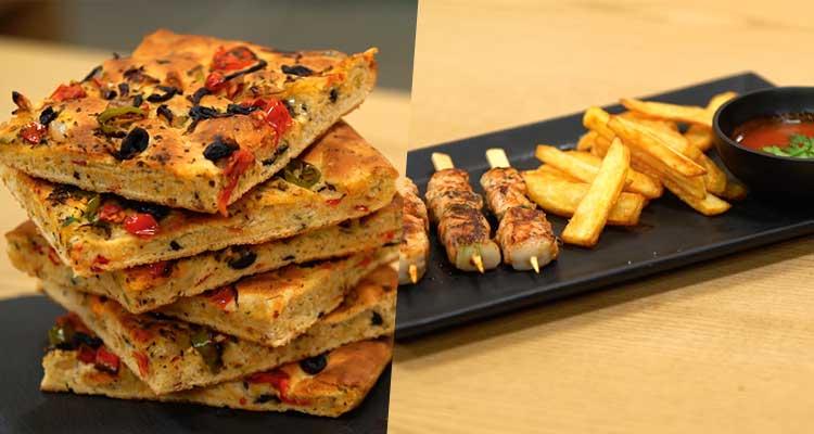 خبز بالخضرة، صحن مقلي - كوجينة رمضان 02 - الحلقة 28