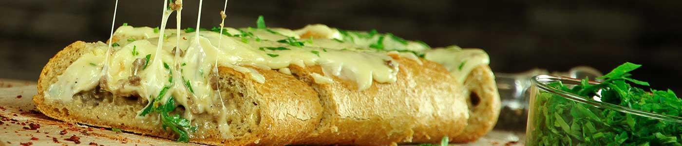 خبز محشي سهل التحضير