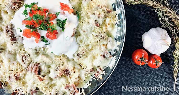 طريقة سهلة لتحضير وصفتين للستيك بالبطاطا والجبن والأخرة بالثوم والزبدة