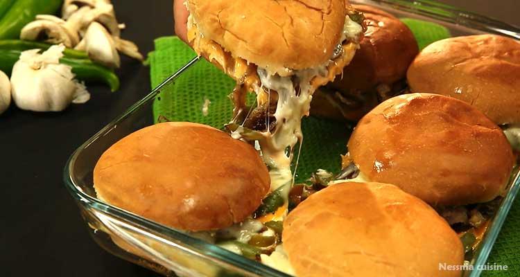 Recette de hamburger steak fromage et pizza tortillas très facile !