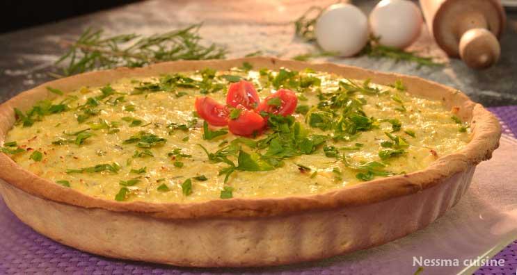 Recette facile de Quiche poulet fromage