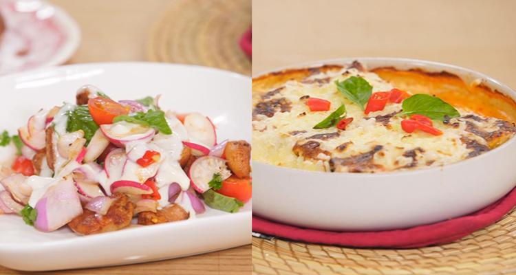 cannelloni aux poissons, salade de Concombre et de yaourt, Truffes - koujinet romdhan 3 ep 15