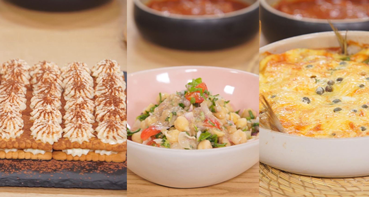 Menu Ramadan : Salade de pois chiches, Quiche de sardine, Tiramisu - koujinet romdhan 3 ep 27