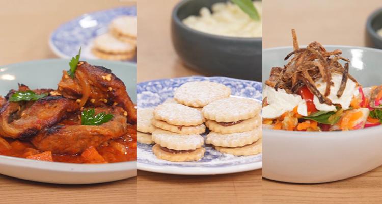 Salade de Carotte et Radis, chicken fry et riz frie thai , Biscuits - koujinet romdhan 3 ep 18