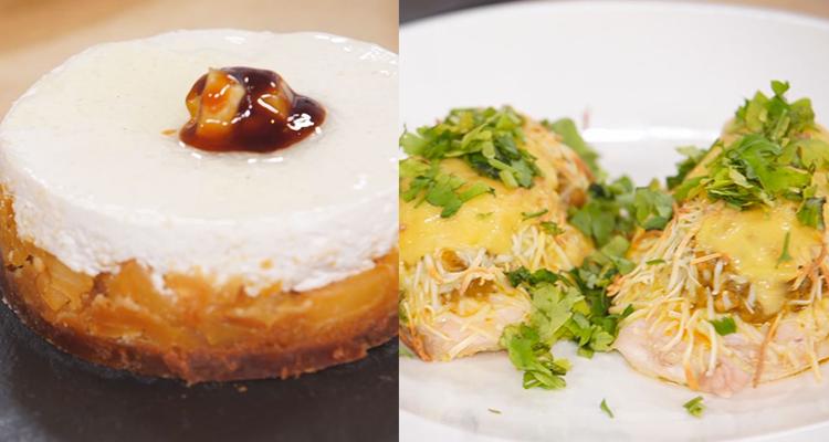 سلاطة محمصة ،لحمة سلاطة ، مرطبات بالتفاح والشوكولاتة البيضاء  -   كوجينة رمضان 3 - الحلقة 25