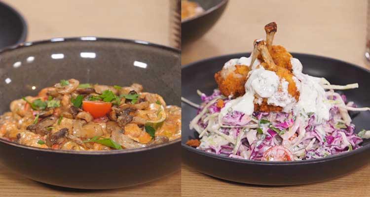 سلطة كرنب ودجاج ، غراتان بالفطر واللحم ، كيك بالشوكولاتة -   كوجينة رمضان 3 - الحلقة 24