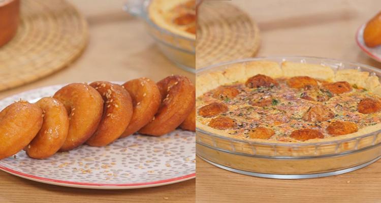 Quiche aux boulettes, Gratin de pâtes ,youyou - koujinet romdhan 3 ep 12