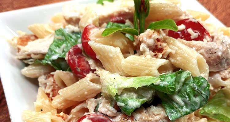 idées de recettes gourmandes de salade de pâtes au poulet !