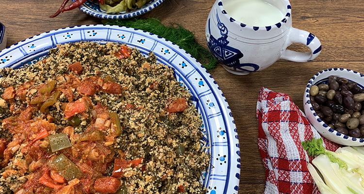 Recette Farfoucha (couscous aux fanes de fenouil)