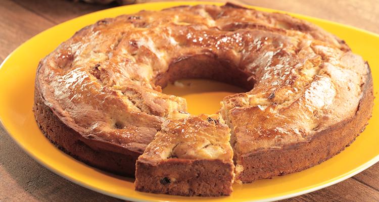 كعكة التفاح سهلة وشهية