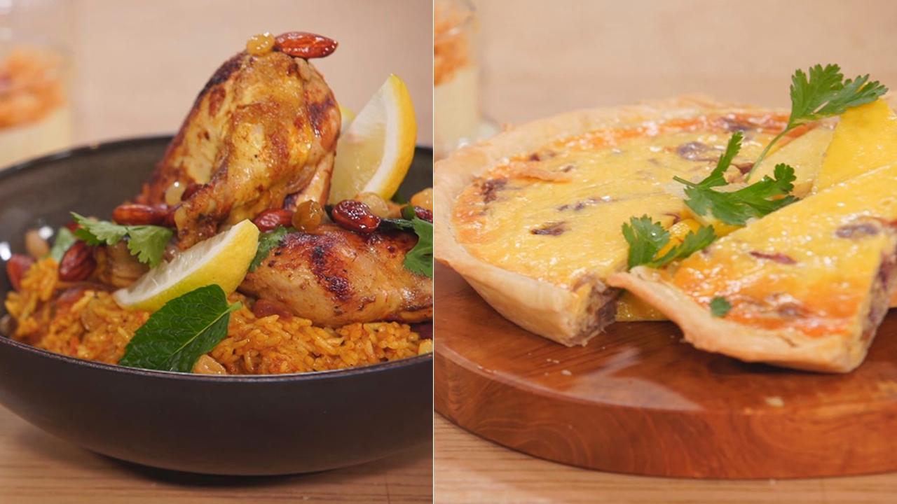كيش بالبصل، مجبوس بالدجاج، كؤوس كنافة - كوجينة رمضان - الحلقة 3