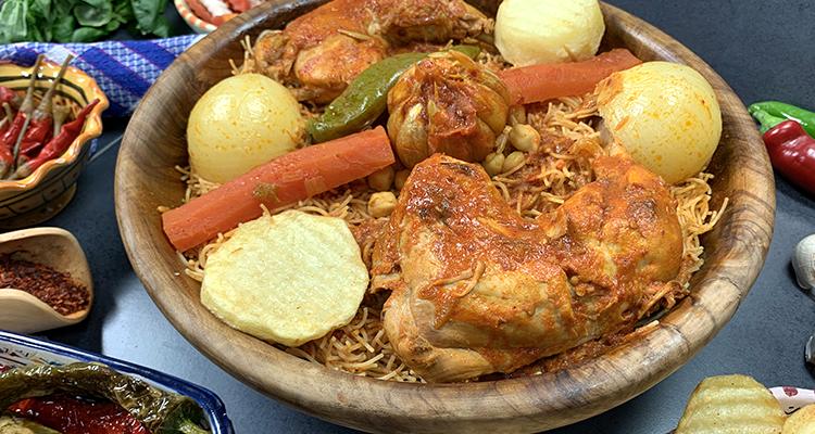 Vermicelles/Dwida Tunisienne au poulet