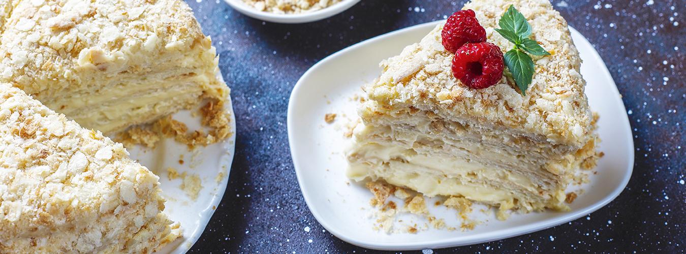 Napoléon , le fameux gâteau russe