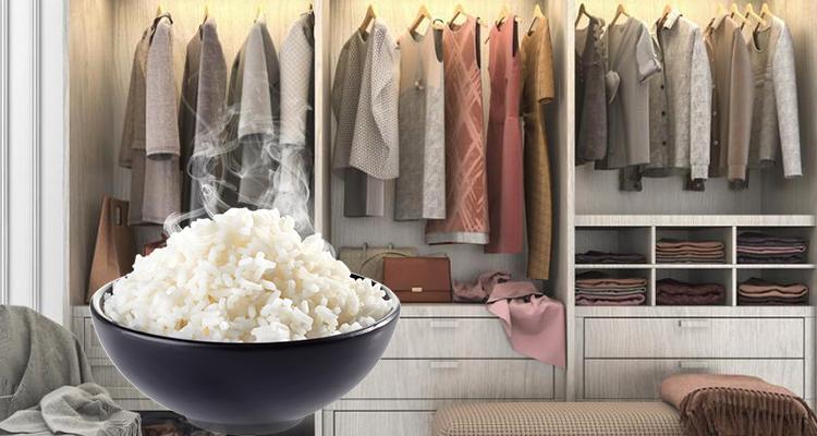 سبب مقنع يجعلك تضع كوبًا من الأرز في خزانة ملابسك