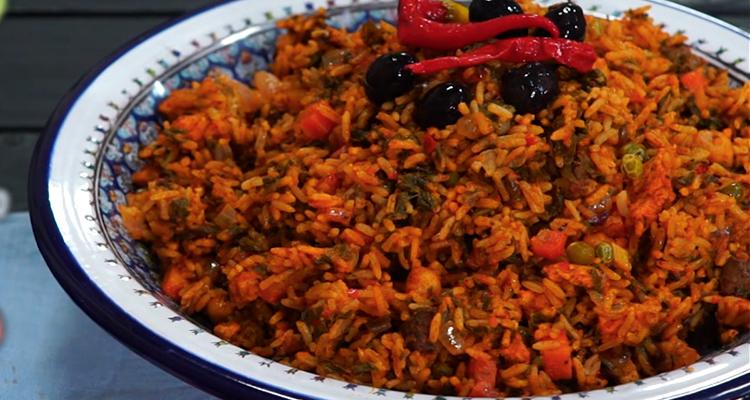 روز جربي ( أرز باللحم والخضار) - حار و حلو - الحلقة 49