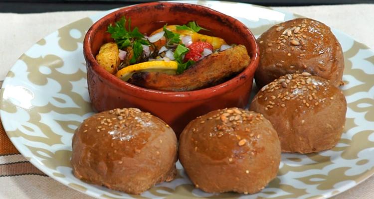 Koucha d'agneau, Crème pâtissière maison, pain tournesol - Har w hlow Ep 51