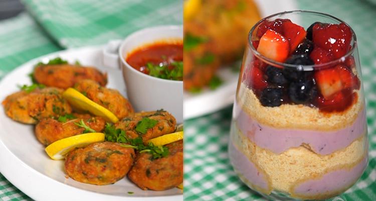 Kefta au merlan (Nazali), verrines biscuits et fruits - Har w hlow Ep 67