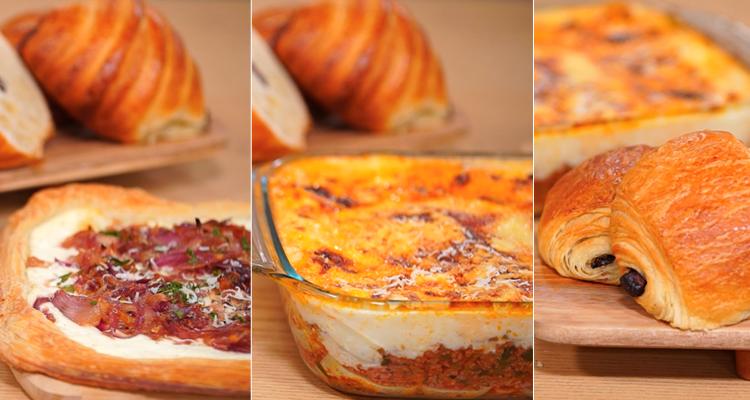 Lasagnes, Tarte à l'oignon, Pain au chocolat - koujinet Elyoum m3a malek 04 Ep 20