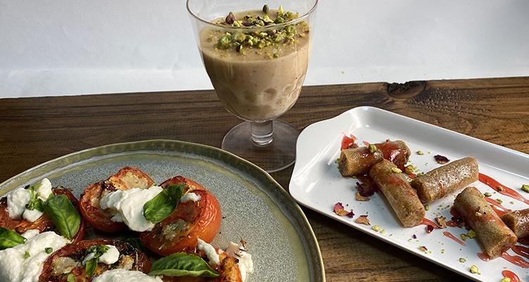 سلطة طماطم محمرة، كانلوني بالجبن، محنشة باللوز, بوزة - كوجينة رمضان 4 - الحلقة 08