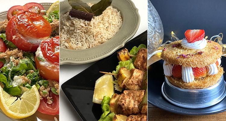 سلطة طماطم مع البيض، أرز، بروشات بالدجاج، كنافة - كوجينة رمضان مع ملاك 4 - الحلقة 1